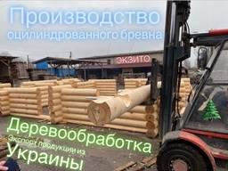 Abgerundete Stämme (Fällen) - Produktion in der Ukraine und Lieferungen nach Deutschland,