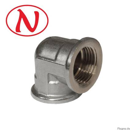 "Brass Fitting 90 Elbow 3/4""F-3/4""M (Nikel) /HS"
