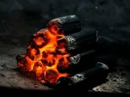 Брикетированный древесный уголь Larch coal.