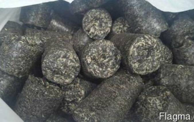 Брикеты из лузги подсолнечника( briquettes from sunflower)