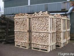 Gehackte Brennholz Eiche, Hainbuche, Birke. Колотые дрова