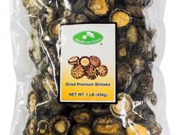 Getrocknete und frische Pilze