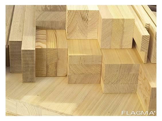 Glued beams floor board calibrated beam block house