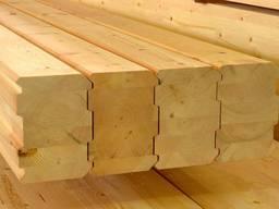 Glued beams floor board calibrated beam block house - фото 2