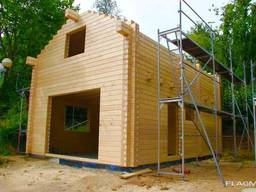 Log house with adjacent building, about 90² (NF) softwood