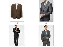 Пиджаки мужские классические костюмные Миксы Сток опт - фото 4