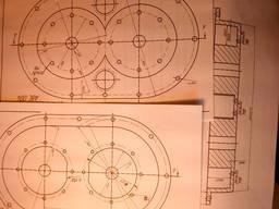 Рабочие чертежи на изобретение Насос-компрессор