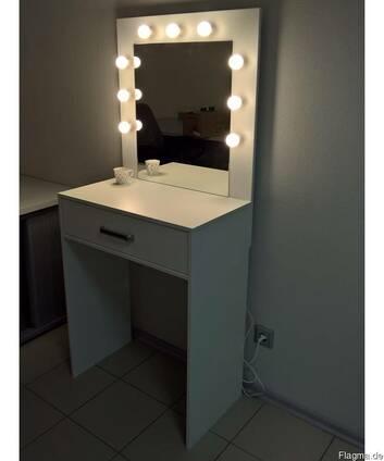 Стол визажиста для макияжа с подсветкой.