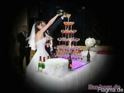 Выездной коктейль-бар, пирамида из шампанского, профессиона