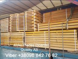 We sell sawn timber, boards Alder