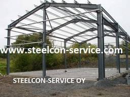 Welded steel construction, frame steel halls
